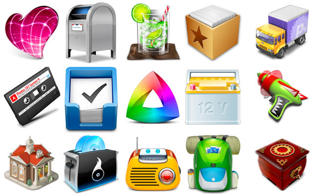 Mac App Icons from 2010
